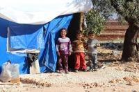 children at IDP camp-Idlib-Syria